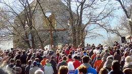 Mintegy 3-400 ember vett részt szombaton a hagyományos Balázs-áldáson