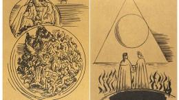 Két lap Borsos Miklós illusztrációjából