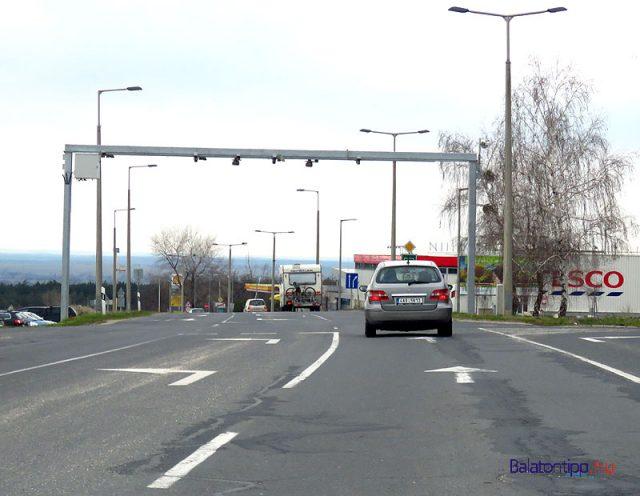 Traffipax a 84-es főút sümegi belterületi szakaszán