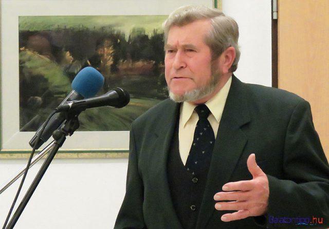 Fülöp Lajos a 2014-es almádi Adventi tárlat megnyitóján