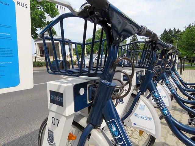 A HEBI - a hévízi ingyenes kerékpáros rendszer egyik állomása