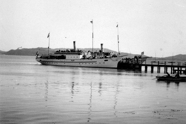 A Helka és a Kelén a balatonfüredi kikötőben 1933-ban - Fotó Fortepan.hu - dr. Baráth Endre