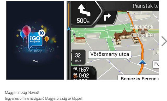 Az app bemutatása az androidos piacoldalon