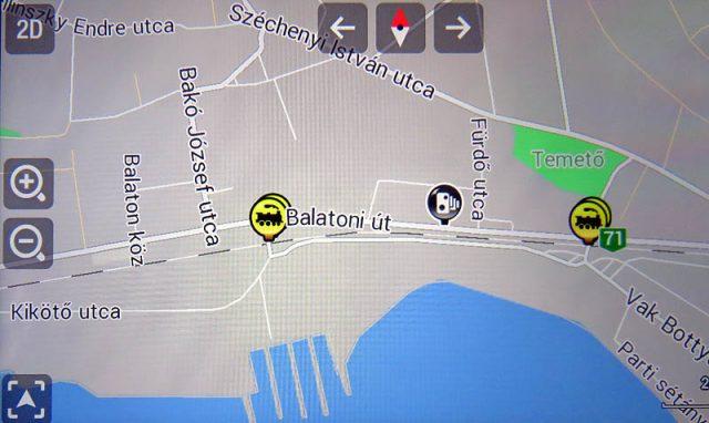 Persze szól Balatonkenesén - a térképen - Füreden, Vonyarcon, Földváron és a többi kukkolós településen is
