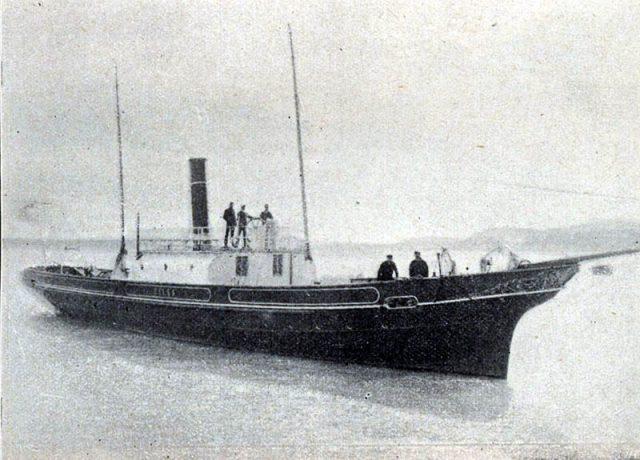 A Kelén csavargőzös valamikor a 19. század utolsó éveiben - forrás: Gonda Béla, A magyar hajózás története (1899)