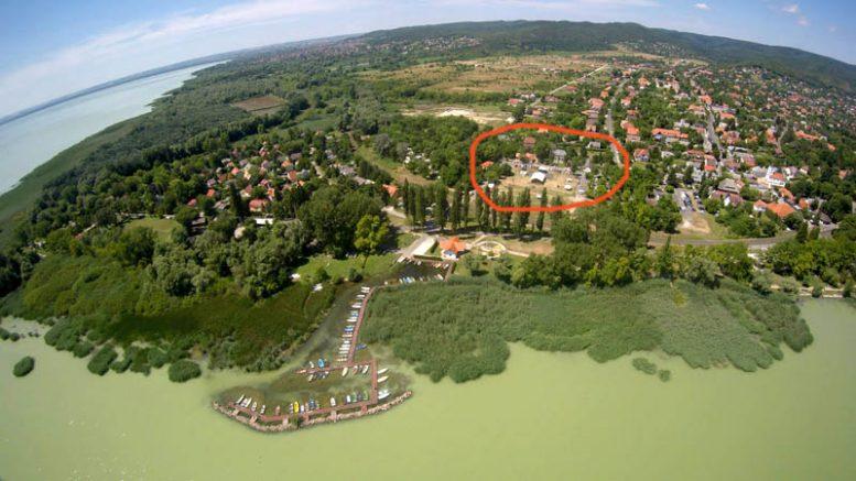 A szombati tűzoltónap helyszínét a piros kör jelzi - Fotó Farkas Attila