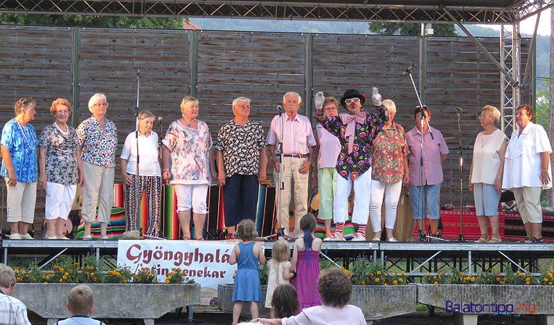 Az Őszirózsák tréfás kedvű kórusa a tavalyi rendezvényen - fotó Győrffy Árpád