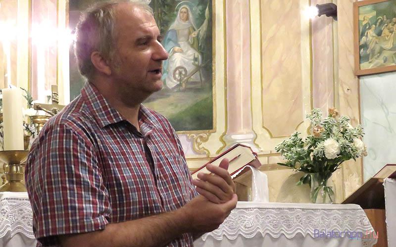 Paulikovics Pál a 2015-ös BBBü egyik templomi koncertjén