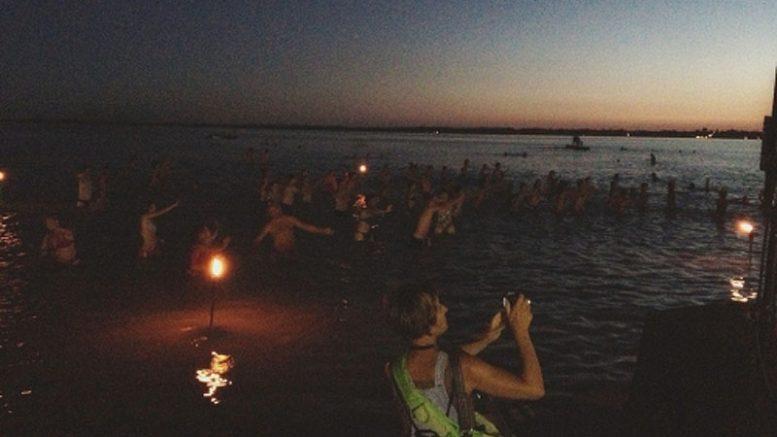 Strandok éjszakája a Diási Játék strandon - Fotó Gyenesdiás Tourinform