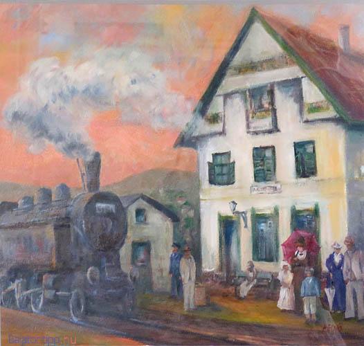 Az alsóörsi vasútállomás 1915-ben