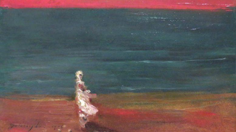 Gulácsy Lajos - Bíbor és smaragd (részlet) - a tihanyi kiállítás egyik képe