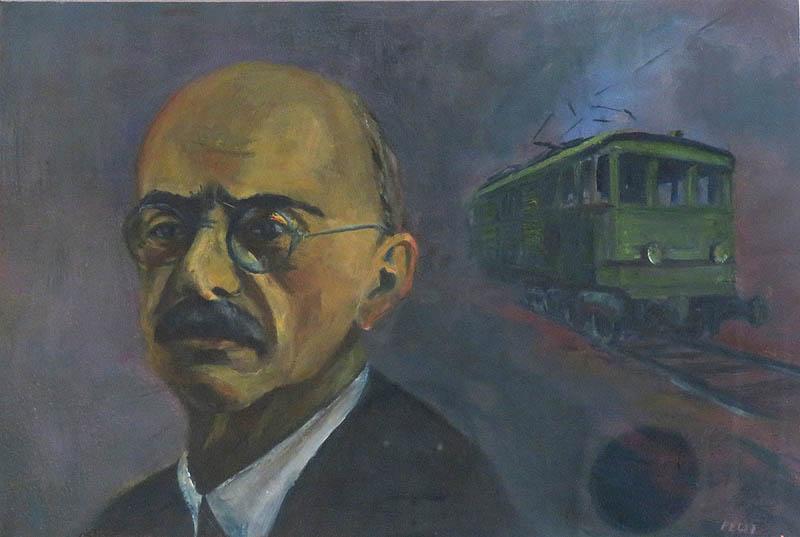 Ami máig csak álom Alsóörsön, egy V40-es villanymozdony Kandó Kálmán portréjával