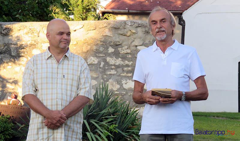 Koncz Imre (balról) és Varga György a megnyitón