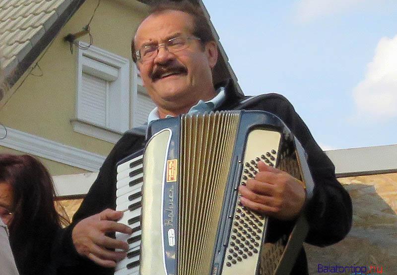 Az éneklésben Nyári László harmonikás is segítette a dalkörösöket a zenei kíséretével