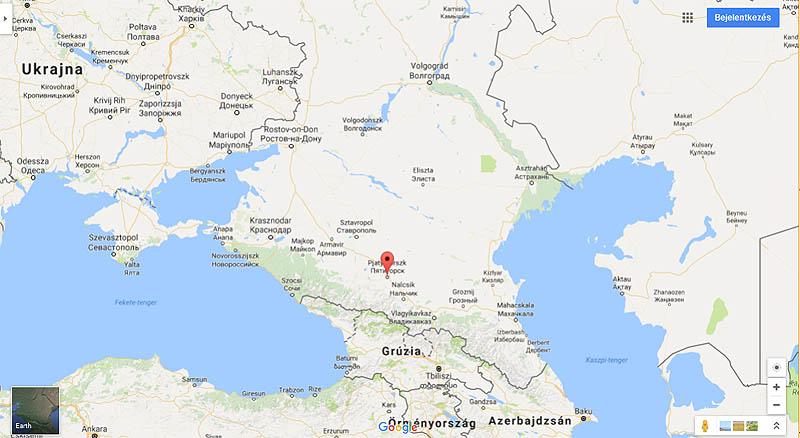 Pjatyigorszk a Google térképén