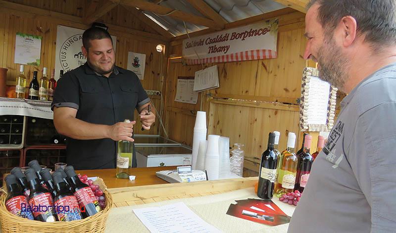 Persze bor is volt bőven - több helyi gazda mellett más borvidékek italait is megkóstolhatták a vendégek