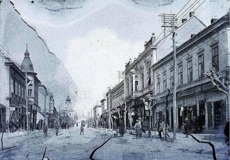 Keszthely, a Kossuth utca - 1911 - Fortepan.hu
