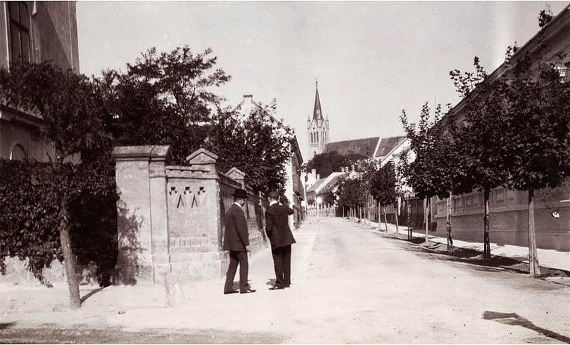Keszthely - Helikon utca - 1903 - Fortepan.hu