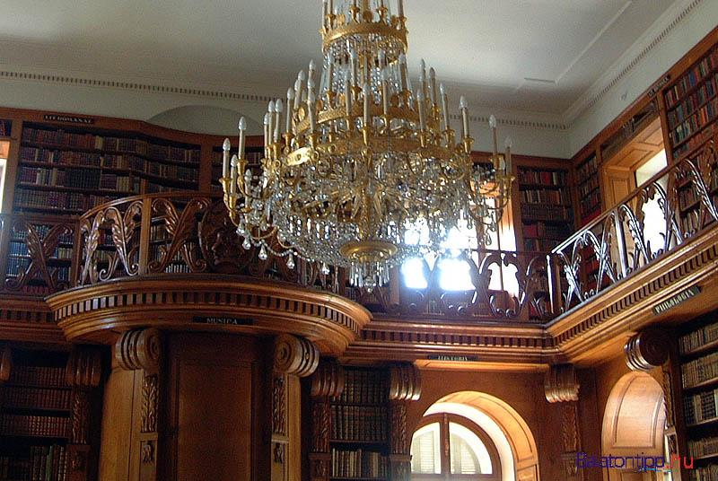 Keszthely - a Festetics-kastély könyvtára