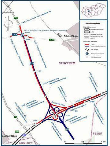 Az M7-es autópálya és a 710-es főút összekötése
