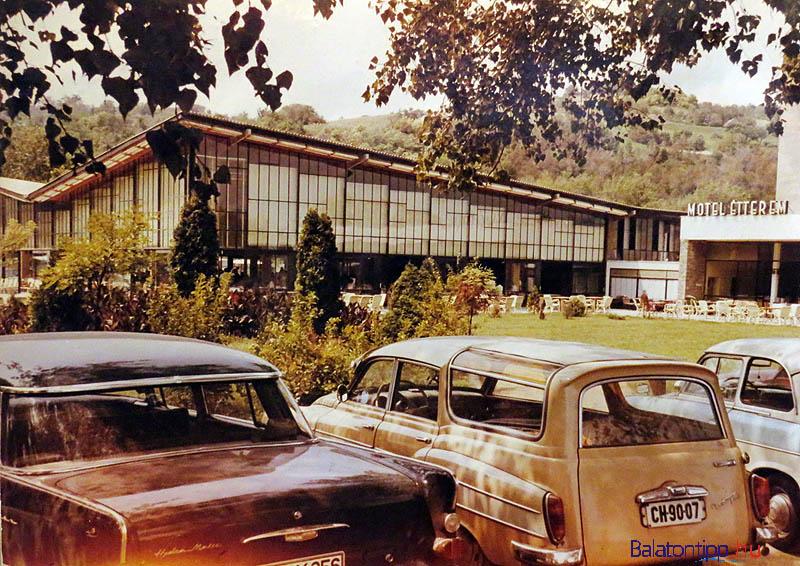 A tihanyi Motel épületét az 1958-as Brüsszeli Világkiállításon vásárolták