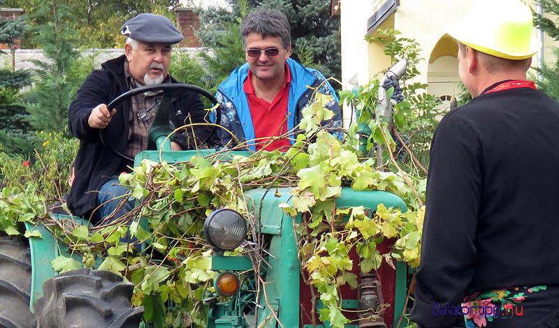 Voltak, akik traktorral járták be a falut a szüreti menettel