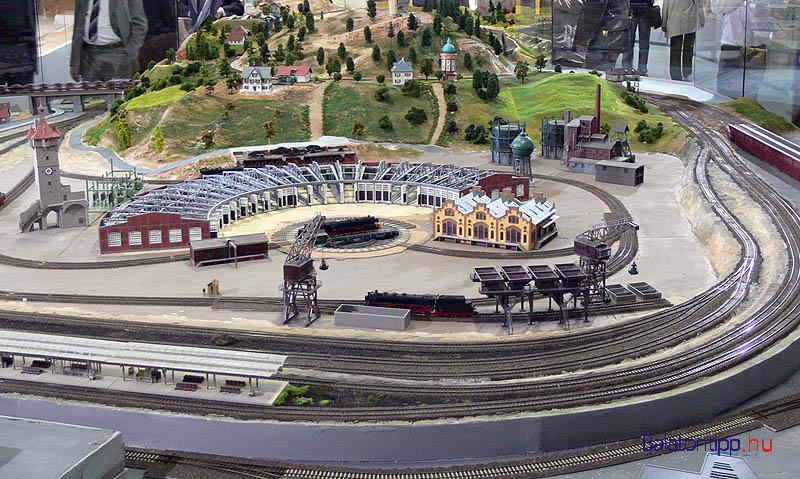 Részlet a Helikon Kastélymúzeum modellvasút kiállításából