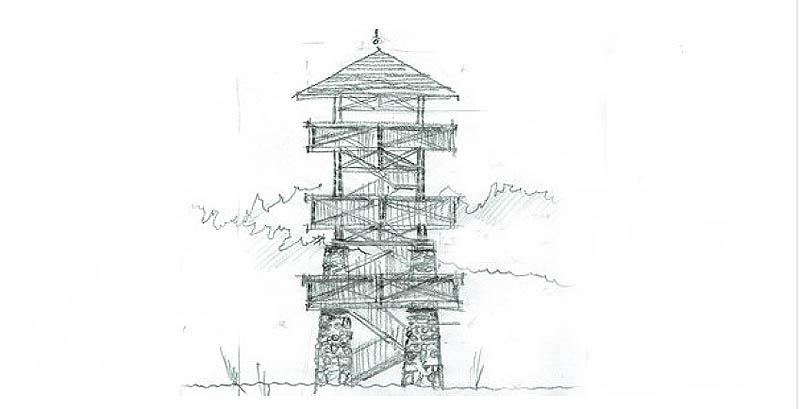 A kilátó látványrajza a Bakonyerdő Zrt. honlapjáról