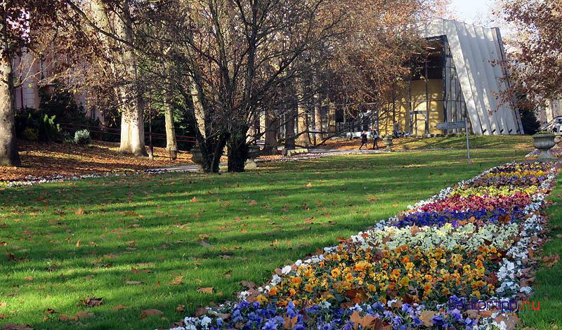 A magán-szálláshelyeken is olyan minőséget szeretnének, mint amilyent a november végén is virágos Schulhof sétány mutat