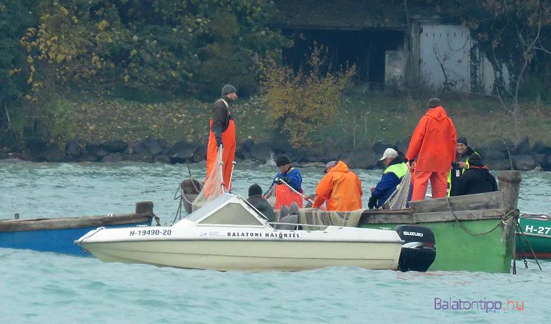 Illetve nem látjuk meg, mert a kritikus pillanatban egy halász motorcsónakkal odaállt a bárka elé, így teljesen kitakarta a hálót, illetve tartalmát. Ennyit a látványhalászatról
