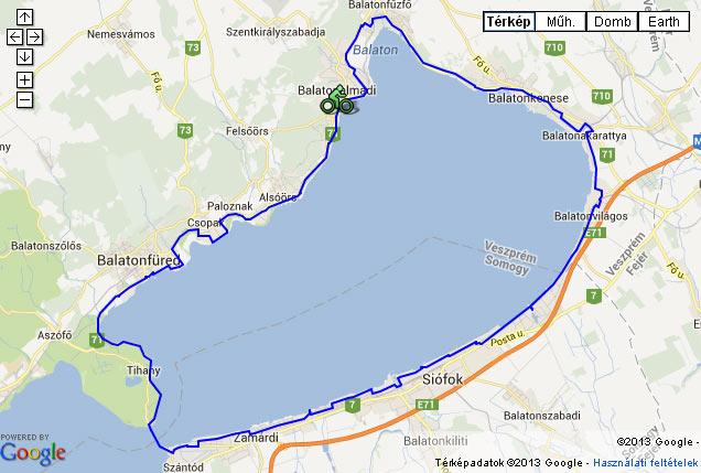 balaton körút térkép Győrffy Árpád: Balatoni Bringakör két részletben   2013 | Balatontipp balaton körút térkép