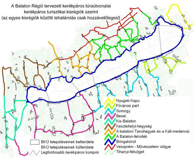 balaton bicikliút térkép Bicikliút – Nagyszabású bicikliút építési tervek a Balatonnál és  balaton bicikliút térkép