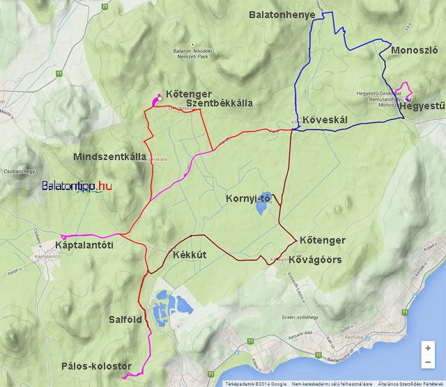 káli medence térkép Káli8 as bicikliút   Kirándulás az ország egyik legszebb vidékén  káli medence térkép