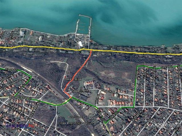 club aliga térkép Balatoni bicikliút   Világosi magaspart, vagy a parti úton a Club