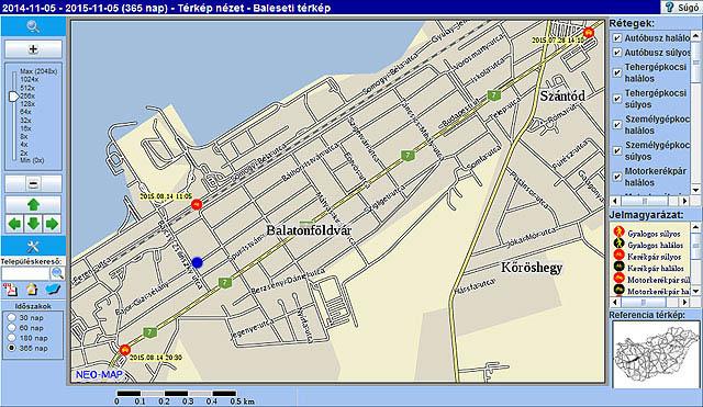 balatonföldvár térkép Traffipaxok a Balatonnál  kamerás mérőkapuk | Balatontipp balatonföldvár térkép