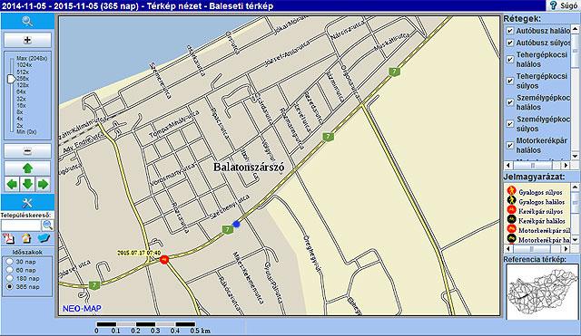 balatonszárszó térkép Traffipaxok a Balatonnál  kamerás mérőkapuk | Balatontipp balatonszárszó térkép