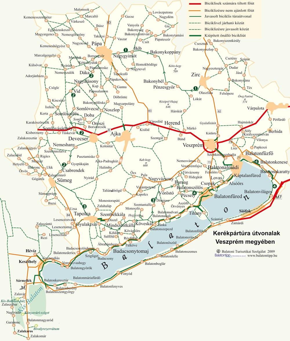 balaton bicikliút térkép Biciklivel a Balaton felvidéken | Balatontipp balaton bicikliút térkép