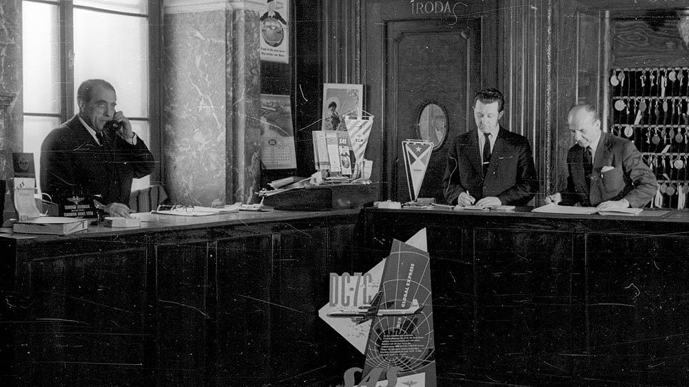 Duna Szálló recepció 1959