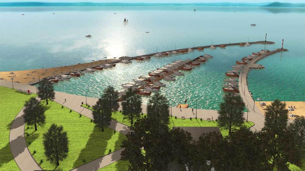Balatonföldvár Nyugati Kikötő látványterve