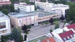 A Kálmán Imre Kulturális Központ a levegőből