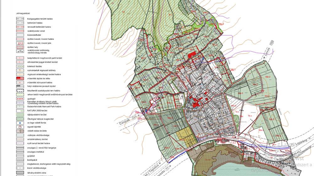 Paloznak térképe a kül- és belterületi ingatlanokkal