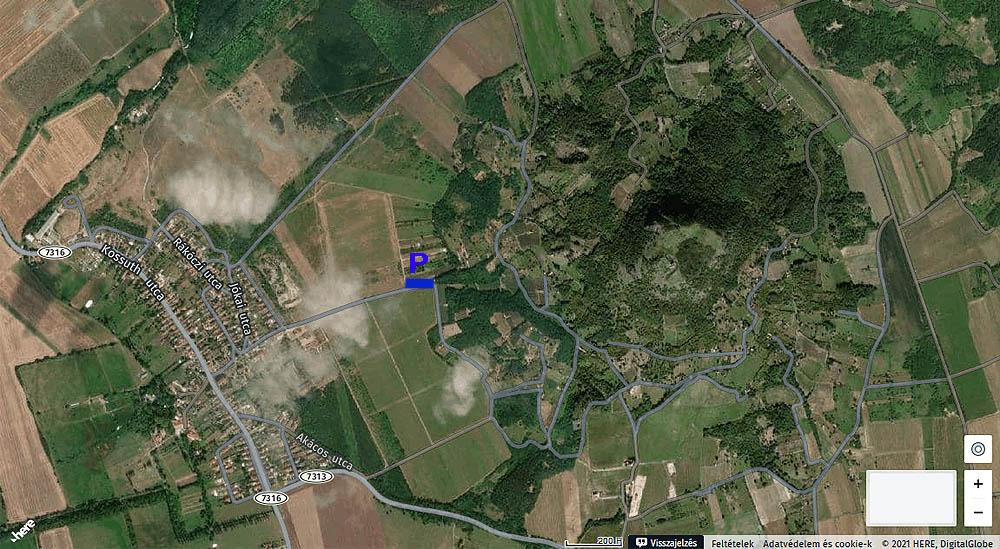 Gyulakeszi és a Csobánc-hegy a WeGoHere térképén