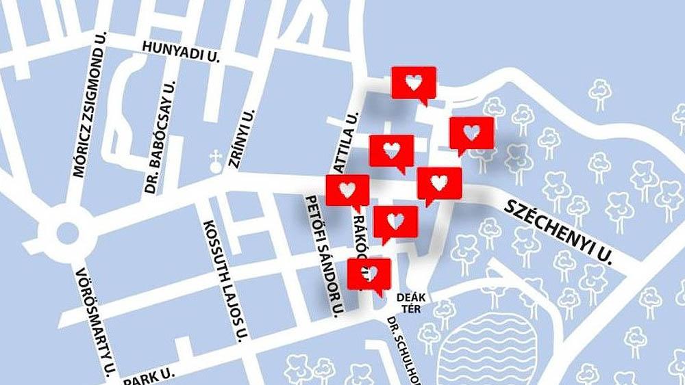 Szerelmes padok Hévíz belvárosában