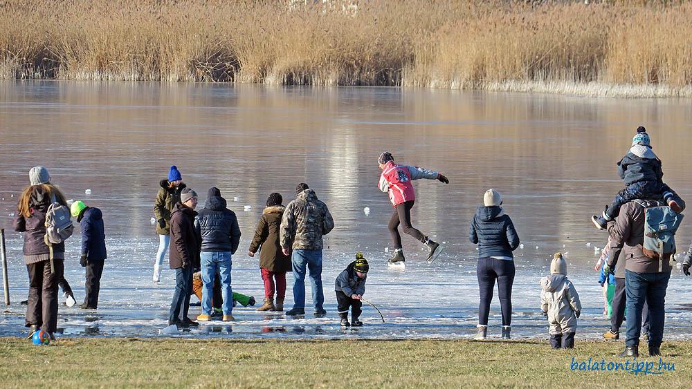 Tihanyi Belső-tó jege