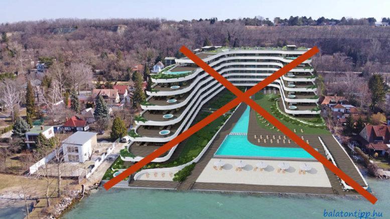 Az aligai 92 lakásos társaságház terve, ami mégsem épülhet meg