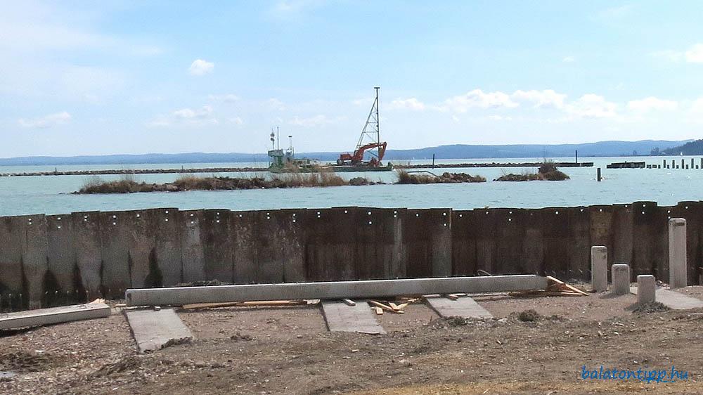 Az MVSZ és a füredi önkormányzat épülő kikötője