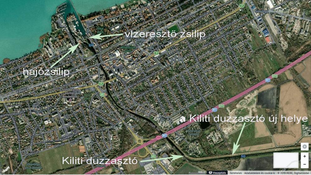 Sió-zsilipek és a Kiliti-duzzasztó
