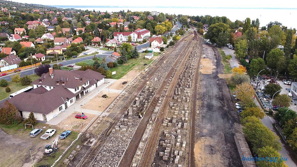 Alsóörs vasútállomás felújítás