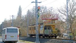 Vasúti felsővezeték szerelés Balatonfűzfőnél