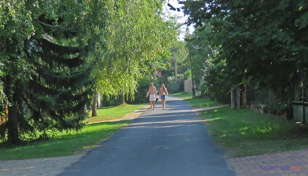 A Balatoni bringakör szepezdi szakasza a Halász utcában